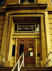 photo of the doors to the old part of Sterling Hall