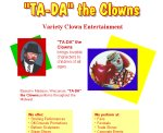 screenshot of 'TA-DA' the Clowns Web site